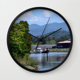 around the river bend Wall Clock
