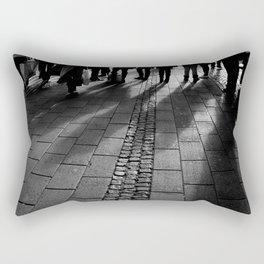 shadows in downtown Rectangular Pillow