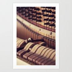 Le Vieux Piano Art Print