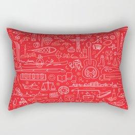 Canadiana Icons Rectangular Pillow