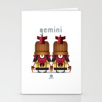 gemini Stationery Cards featuring GEMINI by Angelo Cerantola