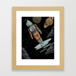 Space Walker Framed Art Print