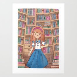 The Smell of Old Books Art Print
