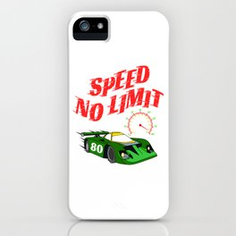 "Made specially for auto-racing lovers out there! Makes a nice gift too! ""Speed No Limit"" tee design iPhone Case"