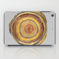 tree rings iPad Cases featuring Tree Rings by Rachael Shankman