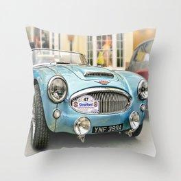 British Sports Car Throw Pillow