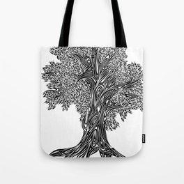 Gnarled Oak Tree Tote Bag