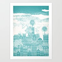 earth Art Prints featuring Earth by David Fleck