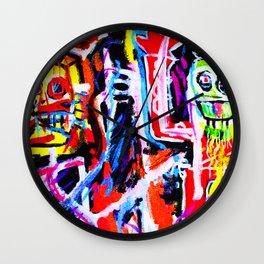 Basquiat's Dustheads Wall Clock