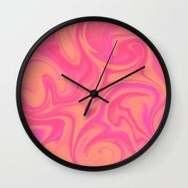 Fruit punch color melt Wall Clock