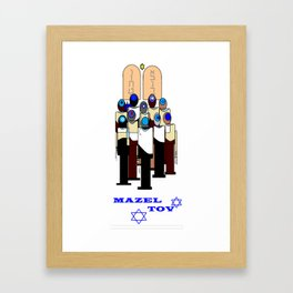 A Celebration of Bar Mitzvah Framed Art Print