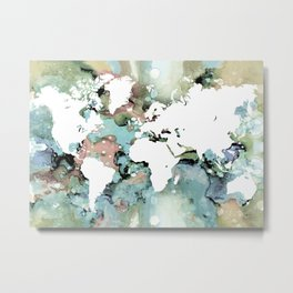 Design 96 world map Metal Print