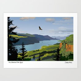 The Columbia Gorge BRIGHTER! Art Print