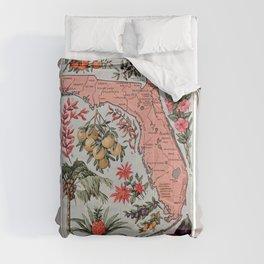 Florida Vintage Poster (1917) Comforters
