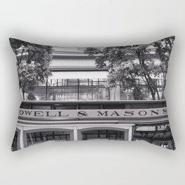San Francisco Cable Car Black and White Rectangular Pillow