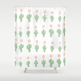 Cactus Pattern - arranged Shower Curtain