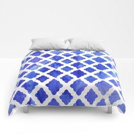 Watercolor Diamonds in Cobalt Blue Comforters