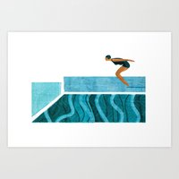 pool Art Prints featuring Pool by Andrew Lyons