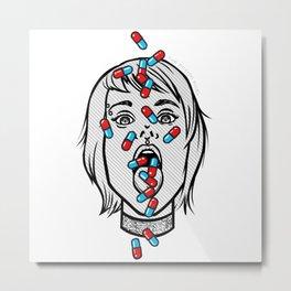 Addicted Metal Print