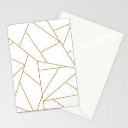 Geometric Gold Hexagon Pattern Stationery Cards
