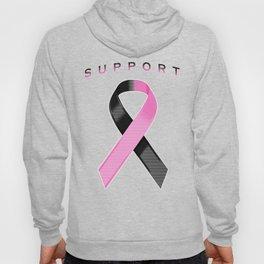 Black and Pink Awareness Ribbon Hoody