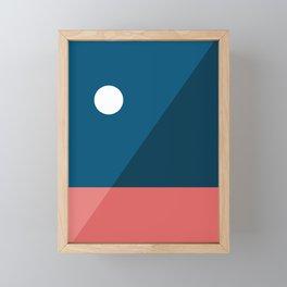 Geometric Landscape 06 Framed Mini Art Print