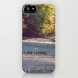 I like living - agatha christie iPhone Case