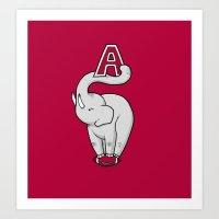 alabama Art Prints featuring Alabama by Randyotter