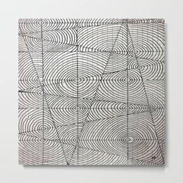 Line Circles Metal Print
