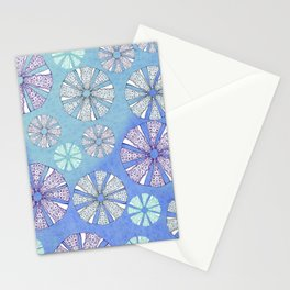 sea urchin blue watercolor Stationery Cards