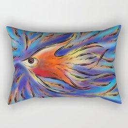 Poloniussa - red angelfish Rectangular Pillow