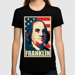 Benjamin Franklin America Pop Art T-shirt