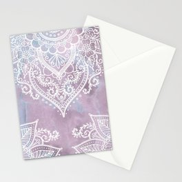 PASTEL MARBLE MANDALA Stationery Cards
