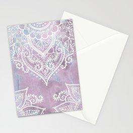 PASTEL MARBLE MANDALA Stationery Cards