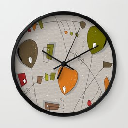 Bouncing Mobiles Wall Clock