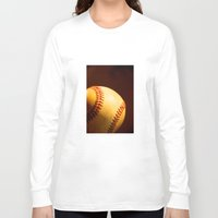 baseball Long Sleeve T-shirts featuring Baseball by Janice Sullivan