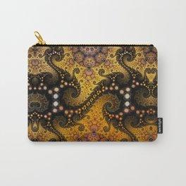 Golden dragon spirals and circles, fractal art Carry-All Pouch
