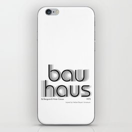ITC Bauhaus iPhone Skin