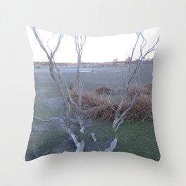 Knocked Over Bent Tree Throw Pillow