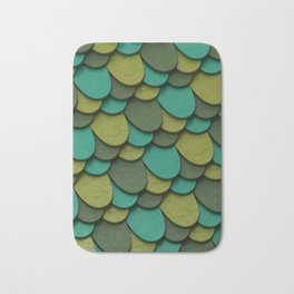 Green Scales Bath Mat