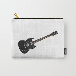 Black Electric Guitar Carry-All Pouch