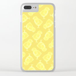 Yellow Easter chicken pattern Clear iPhone Case