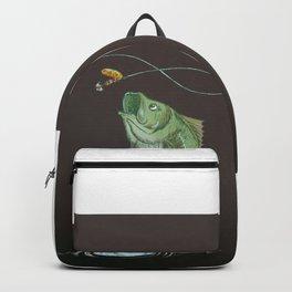 Bass Jumping At Night Backpack