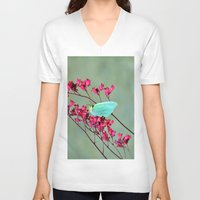 butterfly V-neck T-shirts featuring butterfly by  Agostino Lo Coco