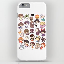 Studio Ghibli - Chibi Characters iPhone Case