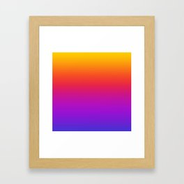 Colorful Gradient Pattern Neon Abstract Rainbow Framed Art Print