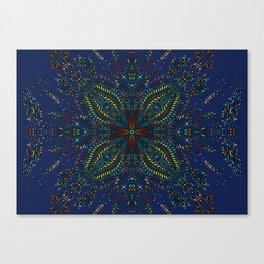 Mexican Chromatic Pattern Blue Canvas Print