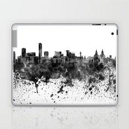 Liverpool skyline in black watercolor Laptop & iPad Skin