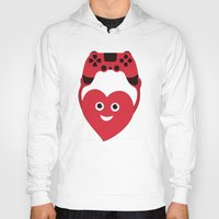 gaming Hoodies featuring Gaming Heart by Boriana Giormova