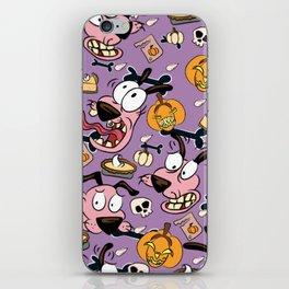 Man Eating Pumpkins Pattern iPhone Skin